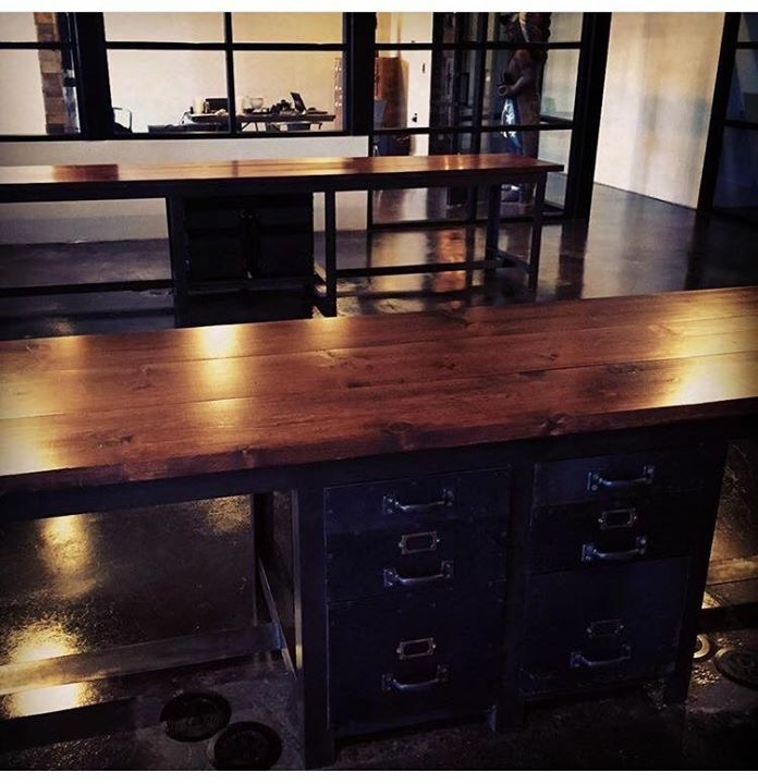 custom industrial office and restaurant decor San Antonio Wanderlust ironworks