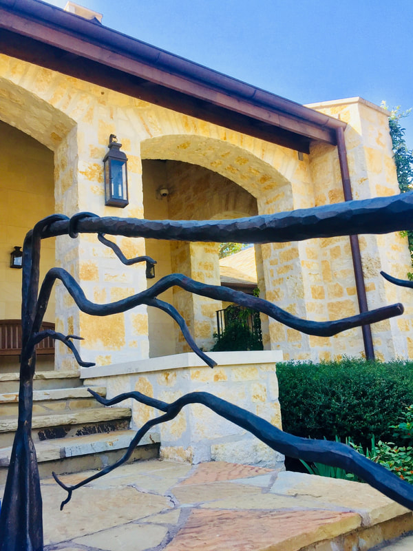 Custom forged handrails Texas