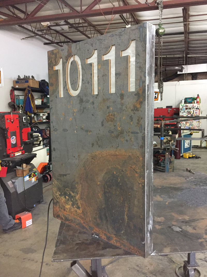 custom welded street numbers and mailboxes wanderlust ironworks San Antonio