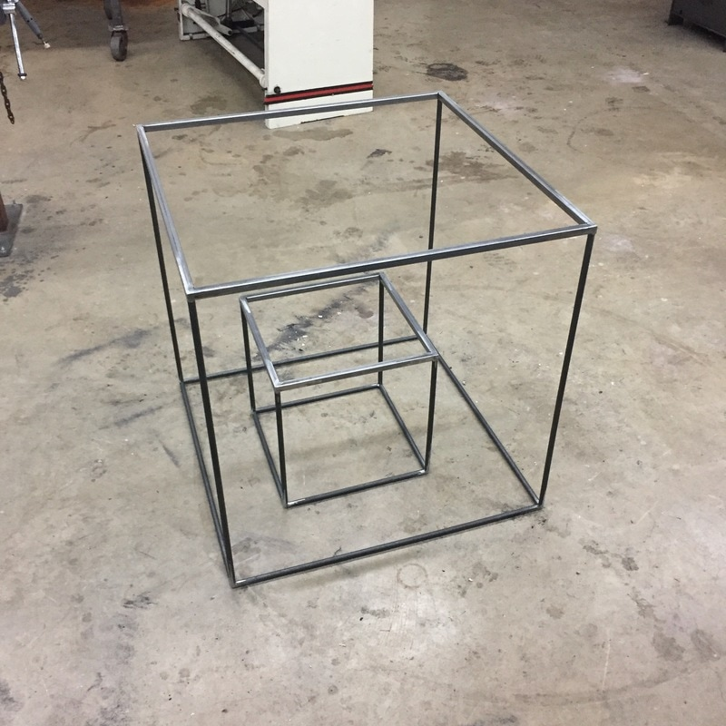 custom table base, metal table frame, custom furniture manufacturing San Antonio