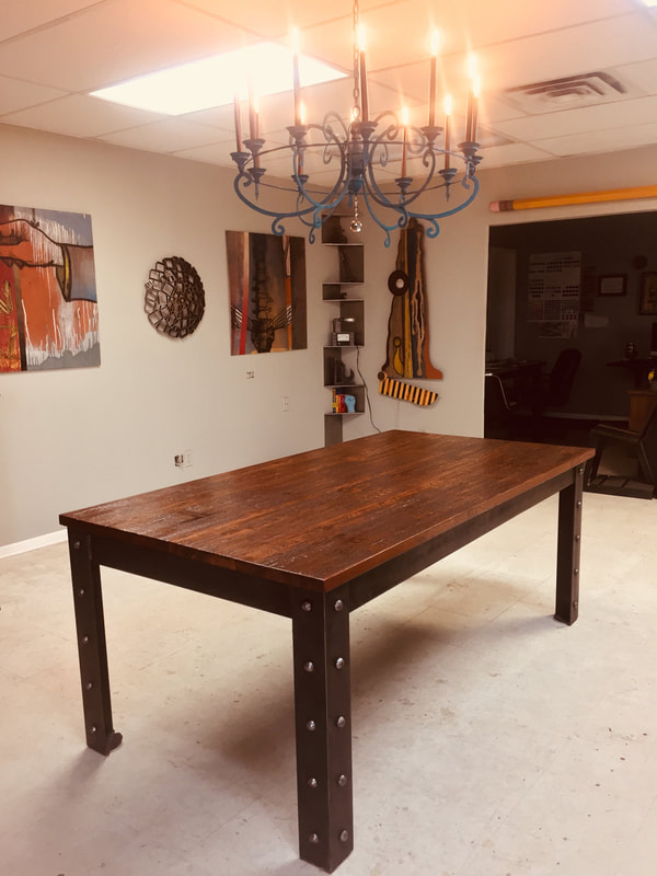 Custom Wood And Steel Tables And Furniture Art Iron