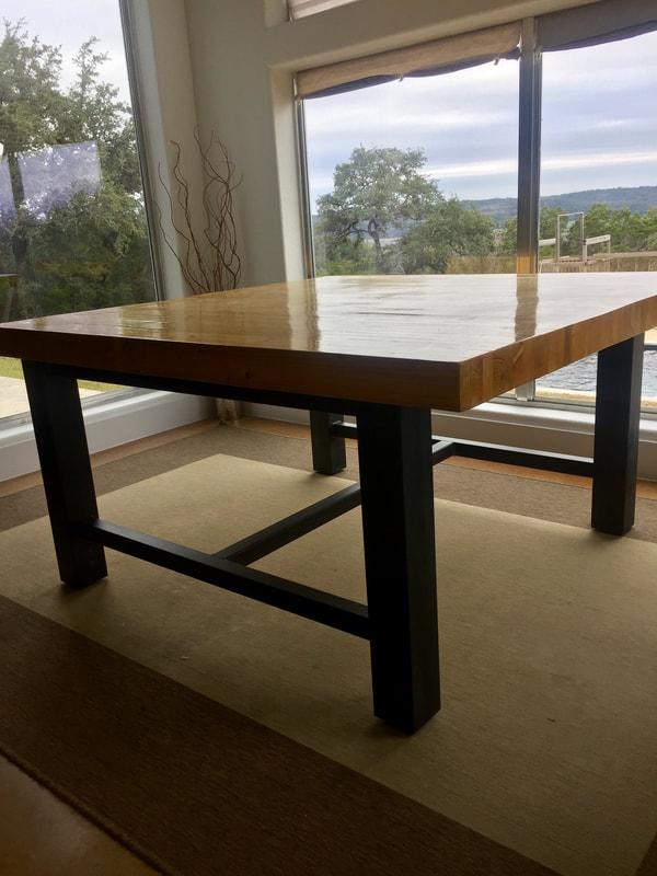 Custom Light Fixtures Texas Custom Furniture Iron Works Public - Welded table base
