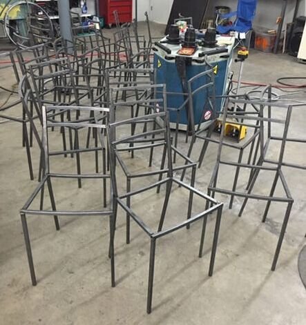 custom chair frames welded Texas, custom dining chairs San Antonio