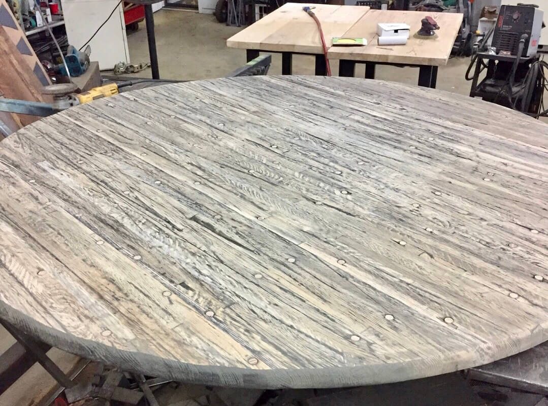 Custom tables Texas, custom table base Texas, custom tables San Antonio, custom furniture San Antonio, metal table base Texas, reclaimed wood tables Texas, blacksmith san antonio