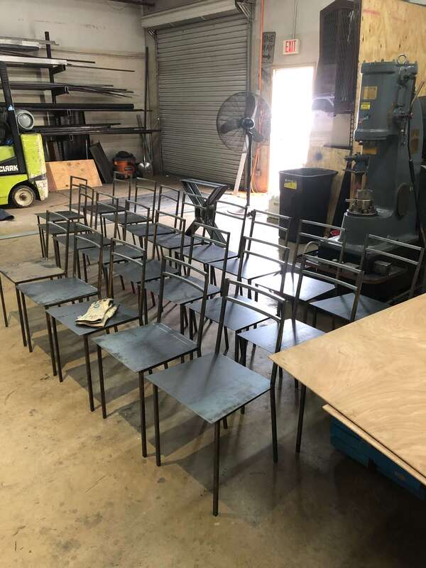 sculptor san antonio, metal artist, custom furniture san antonio, blacksmith, custom dining tables, custom furniture store san antonio, custom welding, table base, custom light fixtures San antonio, custom steel dining chairs